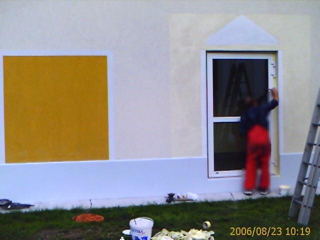 malowanie z oklejoną taśmą