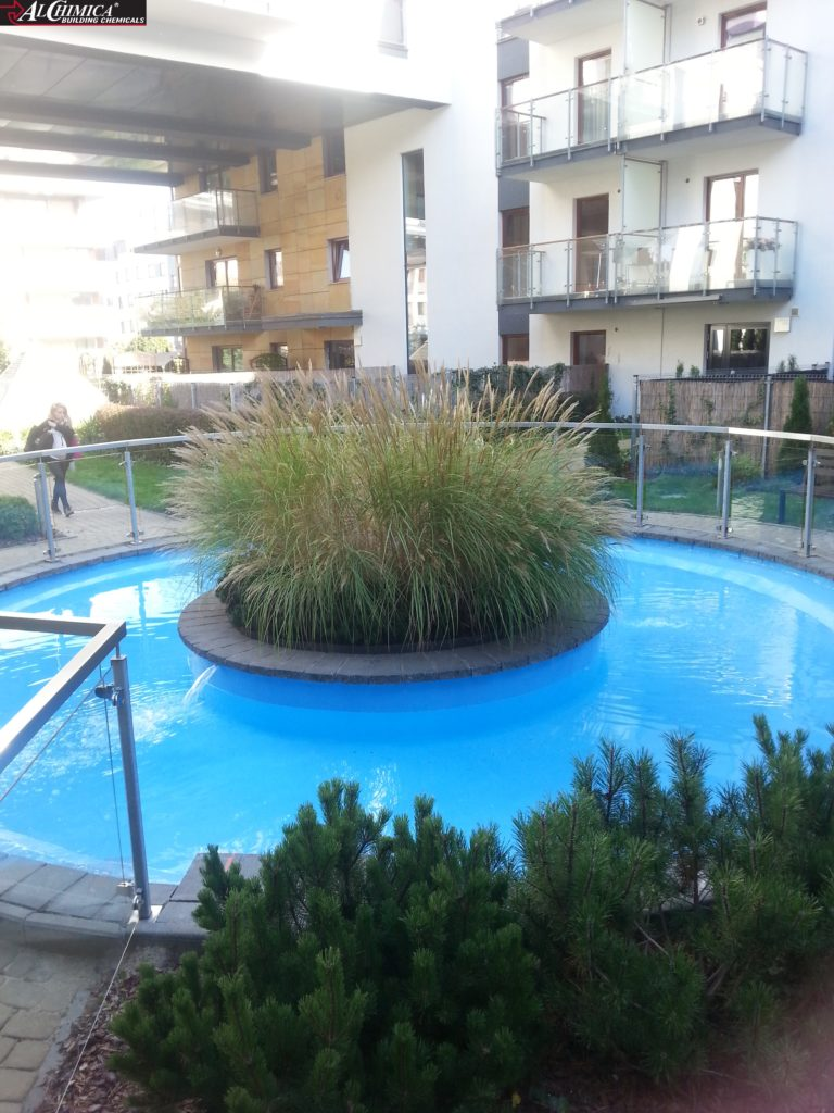Gotowy basen po przeprowadzeniu hydroizolacji