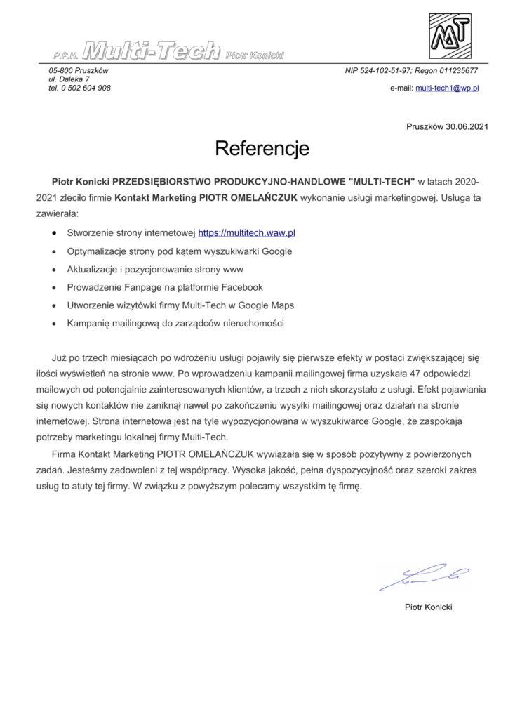 Referencje Multitech
